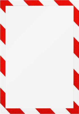 Informationsrahmen DURAFRAME® SECURITY A4, rot/weiß, 2 Stück