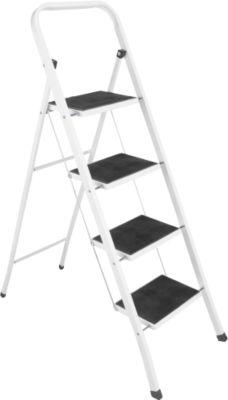 Inklapbare trap, van staal, belastbaar tot 150 kg, 4 treden