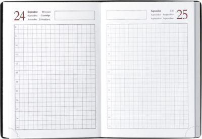 Internationale agenda met geruite pagina's, 1 dag/1 pagina, 384 pagina's,  105 x 148 mm