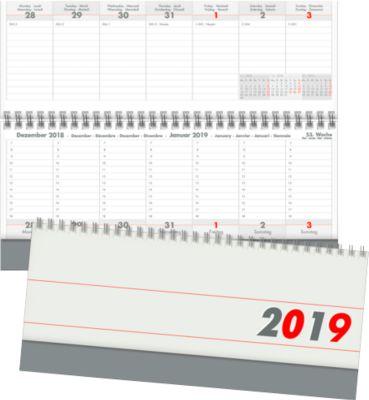 Internationale bureaukalender - grijs