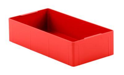 Inzetbakjes EK 14-4, rood, PE, 12 stuks