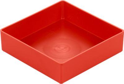 Inzetbakjes EK 304, polystyreen,116 x 116 x 30 mm  rood, 30 stuks