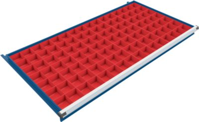 Inzetbakkenset 56 vakken voor ladekast 1330 mm breed, geschikt voor laden 75/100 mm hoogte