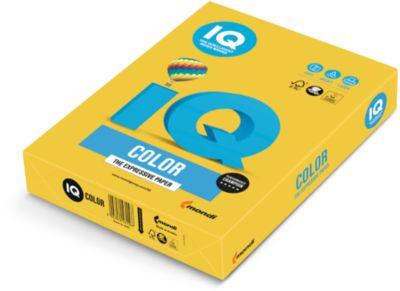 IQ Color Papier-Intensivfarbe, DIN A4, intensivgelb, 160g, 250 Bl.