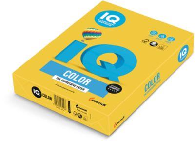 IQ Color Papier-Intensivfarbe, DIN A4, intensivgelb, 80g, 500 Bl.