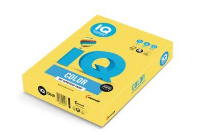 IQ Color Papier-Intensivfarbe, DIN A4, kanariengelb, 120g, 250 Bl.