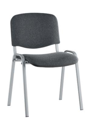 ISO Basic, ohne Armlehnen, Rückenlehnenhöhe 350 mm, alu/anthrazit