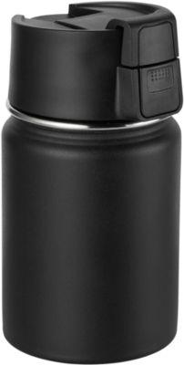 """Isolierbecher """"CAN"""", Edelstahl, pulverbeschichtet, 350 ml, schwarz, WAB B30xT60 mm"""