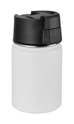 """Isolierbecher """"CAN"""", Edelstahl, pulverbeschichtet, 350 ml, weiß, WAB B30xT60 mm"""