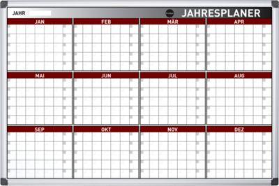 Jahresplaner, 12 Planungsmodule, 420 Einzelfelder, B 900 x H 600 mm