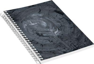Jalema Notizbuch Marmor Line, DIN A5, in Marmoroptik, einzeln, anthrazit
