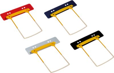 JALEMA Profi-Heftstreifen Clip Plus, Kunststoff, hohe Füllhöhe, 10 Stück, schwarz