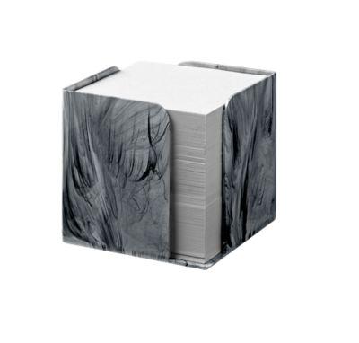 Jalema Zettelwürfel Marmor Line, mit 850 Blatt, in Marmoroptik, einzeln, hellgrau