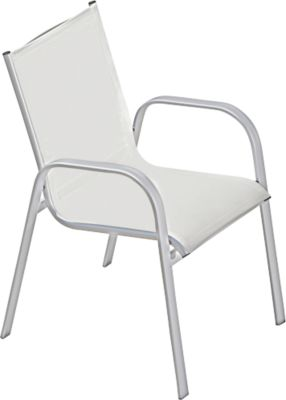 Jan Kurtz stapelbare stoel Fanny, set van 4, lichtgrijs