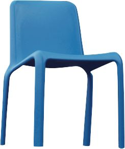 Jan Kurtz stapelbare stoel Sneeuw, set van 4, blauw