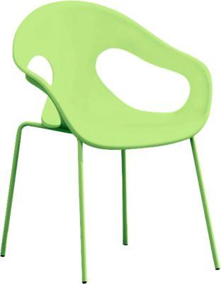 Jan Kurtz Stuhl Sunny, 4er-Set, grün