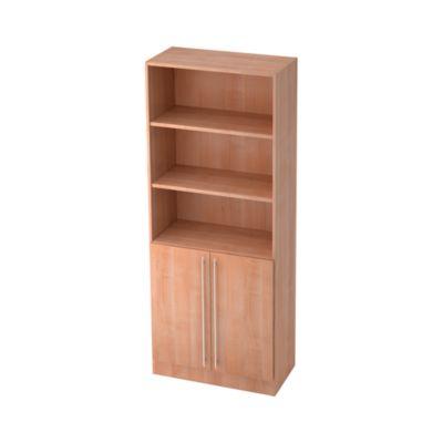 JENA combikast, 5 OH, b 800 mm, 2 OH houten deuren, notendecor