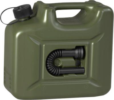 Jerrycan voor motorbrandstof PROFI, olijf, 10 liter