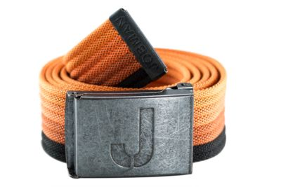Jobman Gurtel gestreift orange/schwarz 120cm