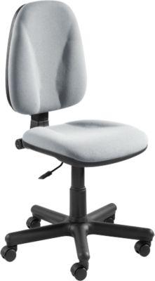 JUPITER bureaustoel, kuipzitting, in hoogte, diepte en neiging verstelbare rugleuning, zonder armleuningen, grijs