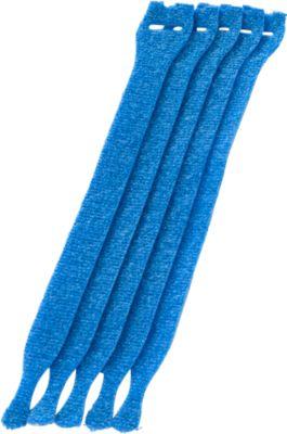 Kabel-Klettverschlüsse, blau, 10 Stück