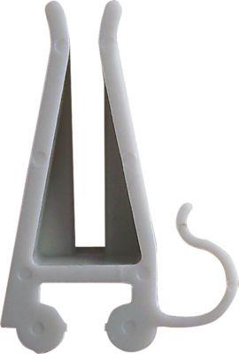 Kabelclips für FRANKEN Projektionsarm Clips PRO, Kunststoff, grau, 10 Stück