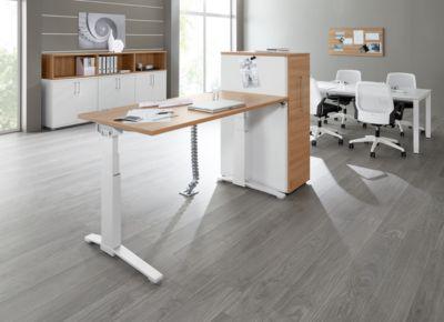 Kabelgoot SINCERO LINE voor bureau, lengte 1600 mm, wit