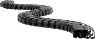 Kabelschlange Classic, mit Bodenauslassadapter, L 750 mm, schwarz