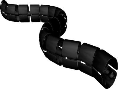 Kabelschlange Premium, L 1250 mm, schwarz