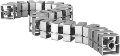 Kabelschlange Quadro, L 750 mm, silber