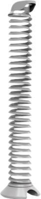 Kabelspirale, Ausziehhöhe 1300 mm, Ø 90 mm, vertikal bis zum Boden, universell, Kunststoff, silbergrau