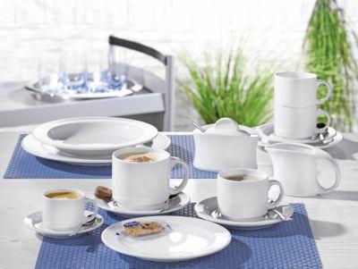 Kaffeegarnitur ADRINA, uni-weiß, 20-teilig
