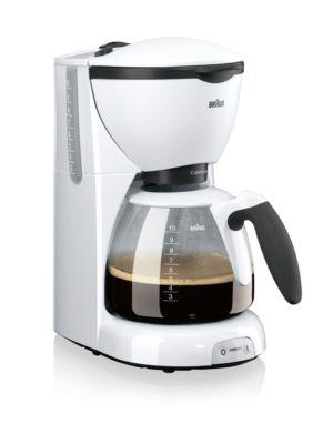 Kaffeemaschine CaféHouse Pure Aroma KF520/1, weiß, 1100 W, 10 Tassen, mit Tropf-Stopp-Funktion