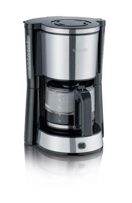 Kaffeemaschine KA 4822, 1000 W, für bis zu 10 Tassen, Abschaltautomatik, inkl. Glaskanne, schwarz-silber