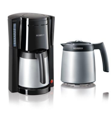 Kaffeemaschine KA 9482, 800 W, für bis zu 8 Tassen, Abschaltautomatik, inkl. 2 Thermokannen, schwarz-silber