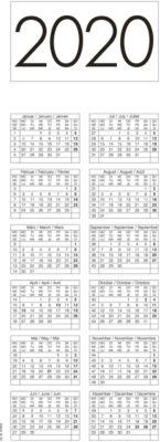 Kalender-Tischblock