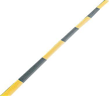 Kantenprofil für Industrierost, Breitseite, schwarz/gelb