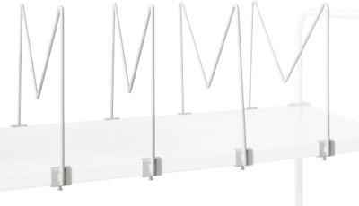 Kartonhalter Serie TPB, f. Stahlablage Serie TPB (Montage unten), 4 Stück