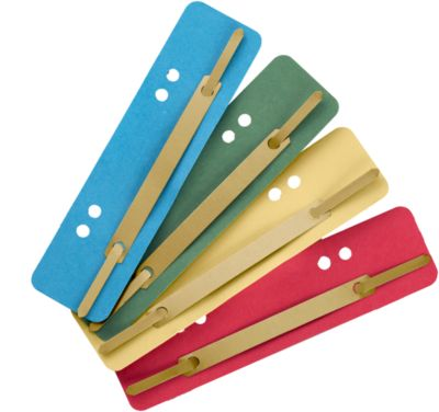 Kartonnen hechtstrips, A5, diverse kleuren, 200 stuks