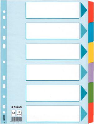 Kartonnen tabbladen met Mylar tabs, A4 formaat, 6 tabs blanco