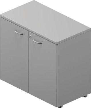 Kast, schuifdeuren, b 800 x d 450 x h 730 mm, gris