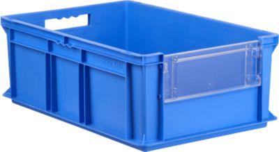 Kasten im EURO-Maß EF 6220 SK, ohne Deckel, mit Staubklappe, 43,5 l, blau
