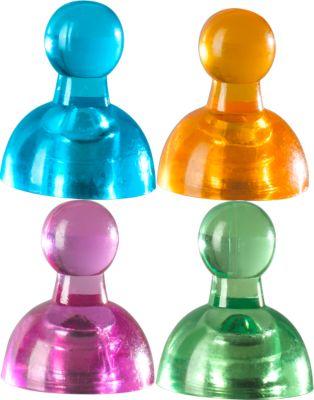 Kegel-Kraftmagnete Neodin, farbsortiert, 10 Stück