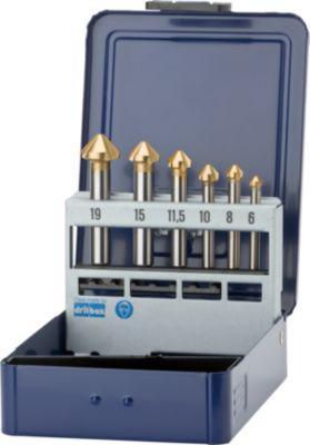Kegelsenker im Set 6-19 mm HSS 90 Grad