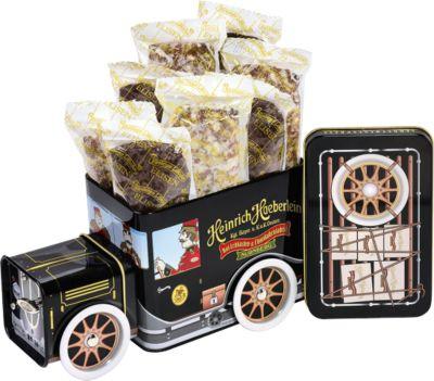Keksdose Lebkuchen-Truck, aus Blech, mit 200g Elisen-Lebkuchen