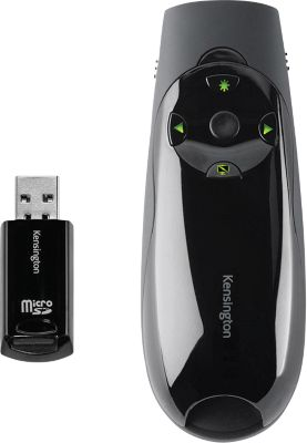 Kensington Wireless Presenter Expert, 4 GB geheugen, 50 m bereik, groene laser