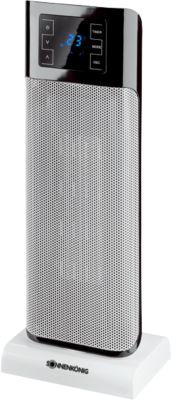 Keramische ventilatorkachel BEIRUT, 1000/2000 W, 75° oscillatie, touch panel + afstandsbediening, zwart-zilver