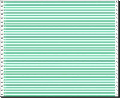 Kettingpapier enkel, groen gel., 2000 st.
