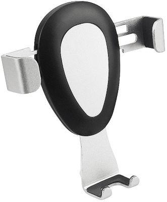 Kfz Handyhalterung Metmaxx Handyhalter Hold´n Gravity, Silber/Schwarz,Lüftungsschlitz