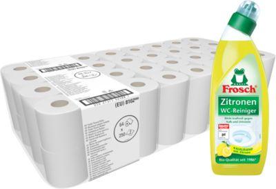 Kimberly Clark® Toiletpapier KIMBI 350 + Frosch WC-reiniger, citroen GRATIS